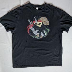 Martial Arts Ninja Warrior graphic tee. XL